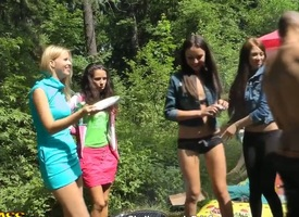 Classmates Albina, Ariana, Destiny, Lindsey, Madelyn and Natalie decided with respect to ritualize momentary of all their exams at the forest pick nick. With respect to is very hot, ergo babes started with respect to took of their clothes.