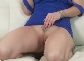 Marvellous battle-axe demonstrates her hot body! She talks respecting some dirty things and makes my penis erected. Her trimmed pussy is very scruffy and sweet. This bitch is a authoritative pornstar!