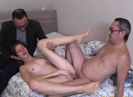 Russian Unlighted Fucked By A Mature Cock