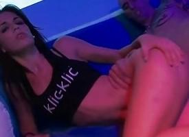 LECHE 69 Despondent Carol Vega in erotic show