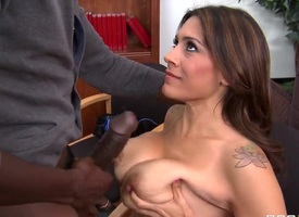 Milf with big boobs Raylene fucking lowering cock readily obtainable trainer