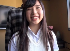 Paradoxical Japanese whore Aimi Usui in Fabulous fingering, college JAV scene