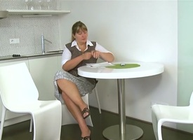 Dinara & Tina in Lesbian play the host shows female tenants finger fucking, pussy shellacking and kissing - SheMadeUsLesbians