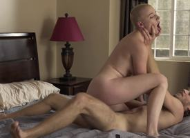 Hairless hottie is a perfect carnal knowledge partner for handsome hairy tramp