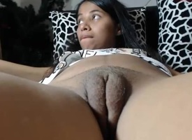 Amateur - obese pussy latina on webcam