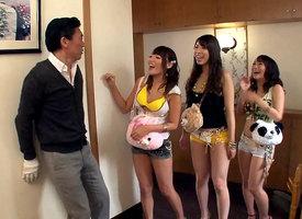 Mao Hamasaki & Mao Kurata & Mio Kayama in Man's Abode Gets Taken Over Away from Sluts - EritoAvStars
