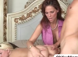 Well-endowed sexy moms tricky hot trinity fuck