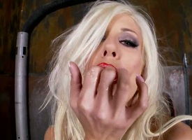 Blonde Puma Swede cant stop toying her beaver