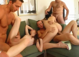 Yoke swinger couples in incredible foursome