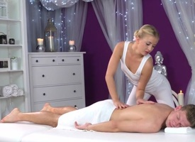 Cayla Lyons & Michael Dart in Overjoyed Become apparent - MassageRooms