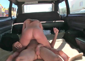 Hailey Jordan rides on giant penis at near very blazing hardcore