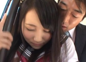 Mao Kurata poor schoolgirl has huge hooters
