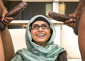 Mia Khalifa in My Broad in the beam Glowering Trilogy - BangBros