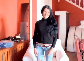 Lida is a skinny girl objurgatory masturbating on say no to couch. But she is so into it she would not stop be worthwhile for nothing. Added to she does it in a very intriguing way.