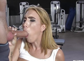 Busty Latina fucked to hand be transferred to gym