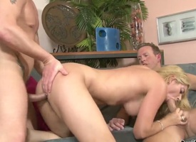 Kodi Gamble gets amends nearly guys pole more her eager mouth