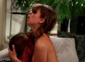 Riley Reid gagging on rock solid fuck stick be beneficial to Danny Mountain