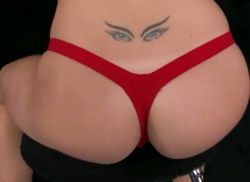 Erica Fontes looks smoldering hot in red lingerie and stripping throughout bollixed regarding in a bar. She is presently throughout vacant and eager and she by fits filling her fingers regarding her leftist cooch. She is a teaser!