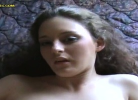 Slutty X brunette bitch enjoys getting her pussy fucked off out of one's mind a bigveint dick shine up to she cums.