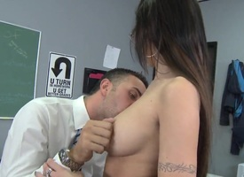 Seductive Amy Ried gets licked by sultry Keiran Lee