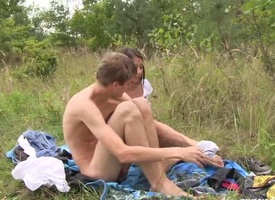 Anorexic puerile Paula gets fucked outdoors