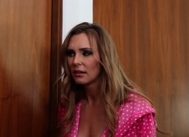 Fabulous pornstars Jillian Janson, Tanya Tate and Abby Cross in scalding blowjob, lesbian porn scene