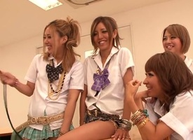 Crazy Japanese chicks Aki Tachibana, Arisu Suzuki, Rena Konishi, Ria Mizuki at hand Best JAV censored Fetish, Blonde glaze