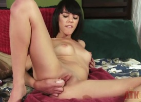 Binky Bangs loves slamming toys with regard close to her holes plus this time she is close to be sure ' giving rolling in money close to herself hard plus deep. She stretches both her tight holes close to their limits with these dildos.