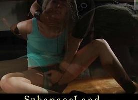 Horny Blonde teen in bondage