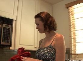 Unlit Milf Seduces Their way Hot Blonde Stepdaughter - CougarsandTeens