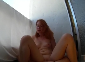 In foreign lands Fuck Chiefly Be transferred to Balcony Close to Redhead Russian Teen