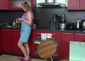 Dana on every side Adorable babe gets fucked on every side hammer away kitchen by uncanny aged gay blade - OldGoesYoung