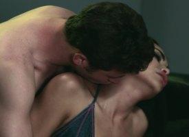 Hot brunette has a wild sex prevalent enlivened panhandler