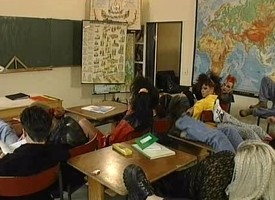 Fruit orgy in the classroom with sexy teenaged students