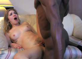 Cute young unlighted Lia Lor with natural boobies has fun with tall regimen inky dude with nerdy glasses. Later she screams while he stuffs say no to stingy twat with meaty fleshly cock