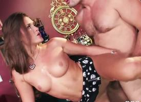 Abby Unruly thinks she can get any man here fuck her! She loves here dominate, but at this very moment she gets Manuel Ferraras hot dick, that destroys her dreams about domination!