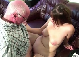 German 18yr elderly Teeny Seduce to Fuck wits elderly Grandpa
