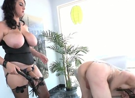 Super unlighted whore named Beverly Paige gives an awesome blowjob to Deviant Kade