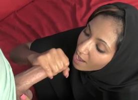 Arabian stripling sensually jerking hard blarney