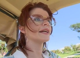 Golfing redhead MILF close by sketch