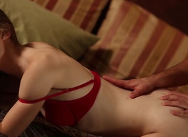 Belle take red bra gets fucked nicely plus slowly by her beau