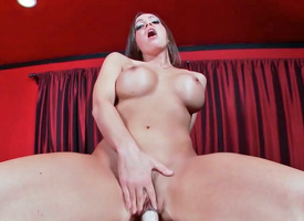 Virgo intacta Mac playfully close to face cock during hot masturbation